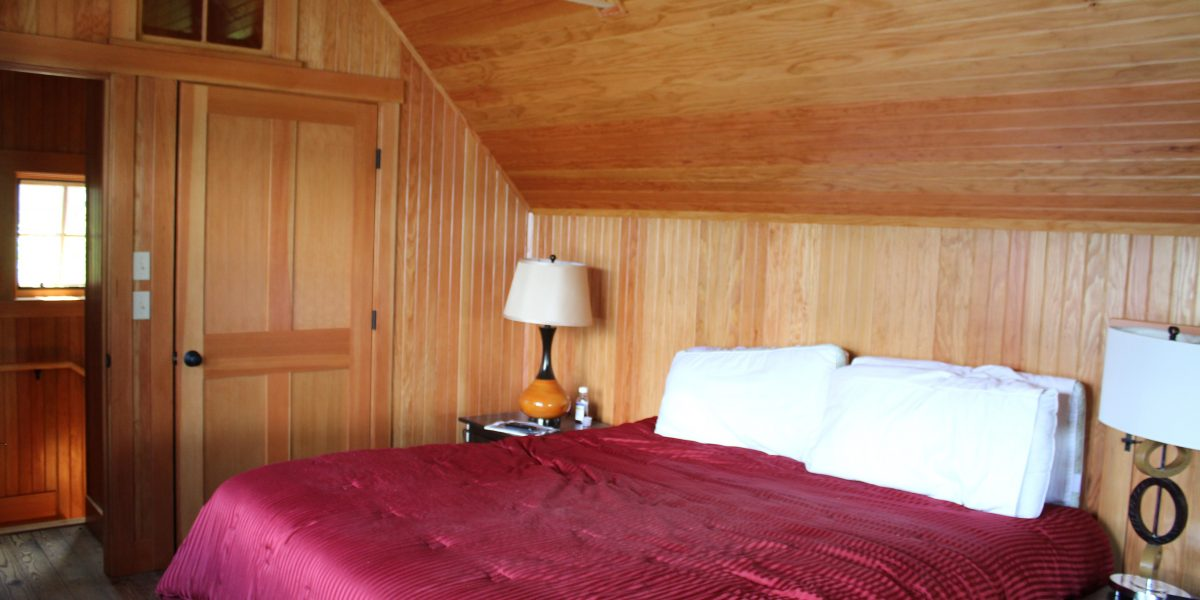 Bedroom at the cabin on Lake Fairlee