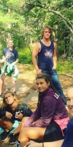 backpacking trip kids camp billings